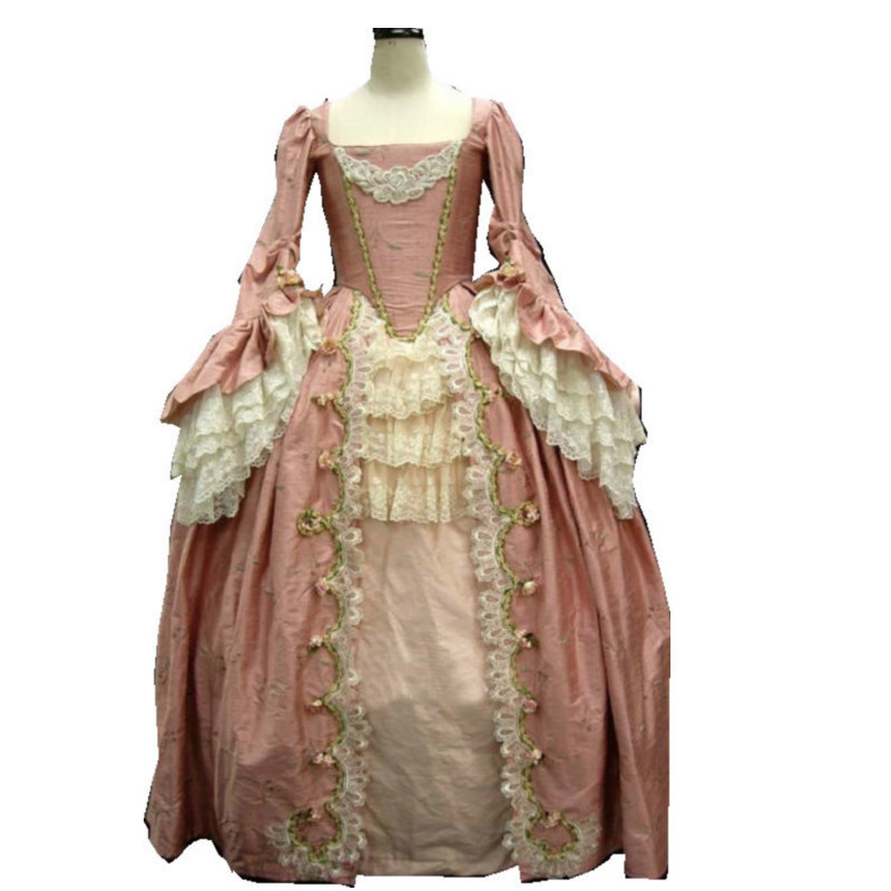 Antique Dressing Gown: 18 Century Civil War Southern Belle Gown Vintage Dress