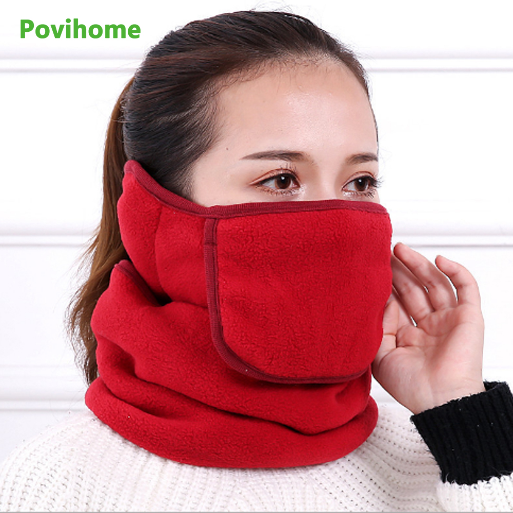 Winter Dustproof Warm Neck Support Collar Masks Open All-in-one Triple Neck Ear Cap Riding Protective Male And Female Masks Z784