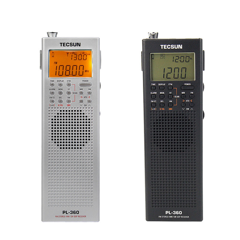 TECSUN PL-360 DSP Radio FM MW SW LW Multiband Radio Receiver Portable Mini Radio With External AM Antenna & Outdoor Antenna bulros fm 360 mini