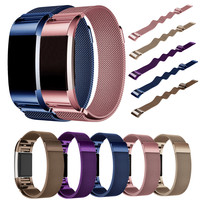Magnetic Milanese Loop Wrist Strap For Fitbit Charge 2 Band For Link Bracelet Stainless Steel Band