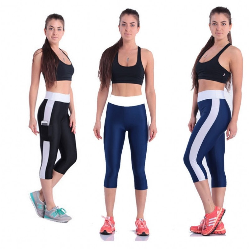 Large Size S-5XL Sexy High Waist Yoga Pant Sport Women Fitness Yoga Pants Gym Legging Black 3/4 Pants Slim Compression Tights high waist jeans women plus size femme stretch slim loose large size jeans pants 2017 casual ankle length haren pants trousers page 4