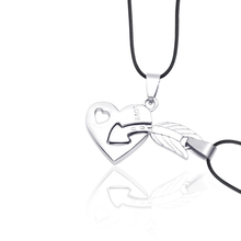 Collares de moda 2019 New One Arrow Heart Couple Necklace 2 Piece Set Personality Combination Pendant Jewelry