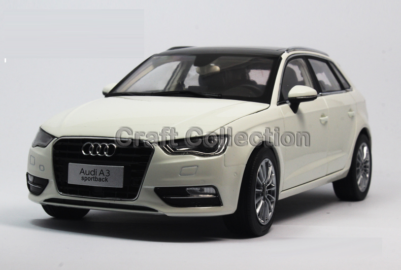 * White 1:18 A3 Sportback SUV 2014 High-end Metal Model Car Diecast Vehicle Parts Several Colors Hatch back