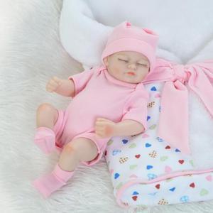 Image 2 - 双子リボーン全身シリコーンベベ現実的なbonecaリアルなリアルガール人形lolのおもちゃ子供meninaベビーアクセサリー