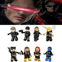 Legoing Marvel Super heroes figures Cyclops Angel Wolverine Quicksilver Longshot Model Building Blocks Toys for Children Legoing(China)
