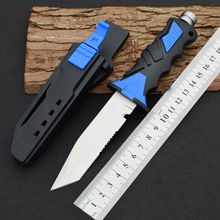 USA Diving Knife 440C Steel Blade Fixed Blade  Knife With Leggings Survival Knifes Hunting Tactical Knives Camping Outdoor Tools