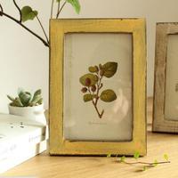 2 Pcs A4 Size(21x30 cm) Old Wooden Photo Frame Zakka Retro Home Decor Frame Wedding Pictures Swing Table Photo Time Flies