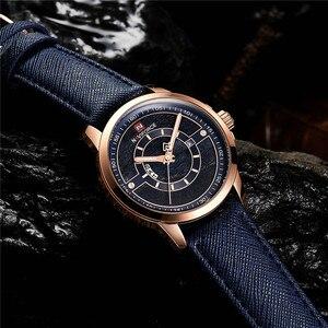 Image 3 - Relogio Masculino New NAVIFORCE Men Watch Sport Waterproof Wristwatch Military Army Business Leather Band Quartz Male Clock 9151