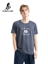Pioneer Camp Men Quick Dry Sport Running shirts Wear Casual Printed Clothing Short Sleeve Male TShirts ADT902159
