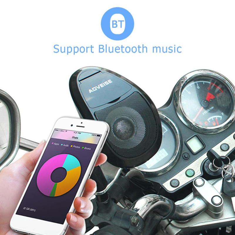 MT493 MP3 Music Audio Player Bluetooth Speakers For Motorcycle Waterproof Portable Stereo With FM Radio Tuner