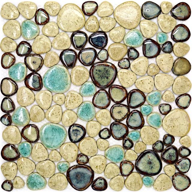 Mozaiek Tegels Tuin.Porselein Pebble Mozaiek Tegel Keuken Backsplash Badkamer Zwembad