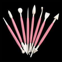 8pcs/set Plastic Clay Sculpting Set Polymer Modeling Clay Tools Polyform Sculpey Tools Set For Shaping Clay Playdough Tools Toys(China)