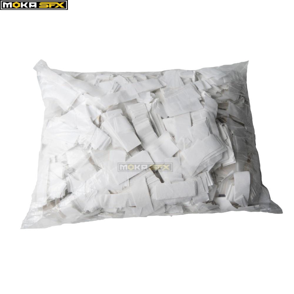 White Color Paper Confetti Tissue Paper Confetti Paper For Confetti Cannon Machine Party Decorations