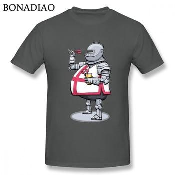 Camiseta divertida de dibujos animados de buenos dardos caballeros Templar Deus Vult para niño, Camiseta clásica de cuello redondo, camiseta grande
