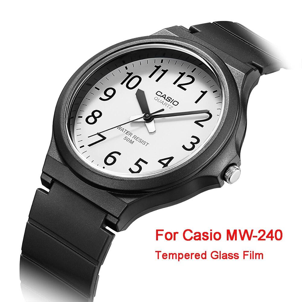 Для Casio MW 240 протектор экрана 2.5D 9 H прозрачные часы Взрывозащищенная защитная пленка для стекла, с защитой против царапин