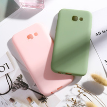 SFor Samsung Galaxy A5 2017 A7 2018 A6 Plus A50 Case Candy Color For S10 S9 S8 S7 Edge Note8 9 Covers J4