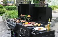 Инфракрасный газовый гриль вне сада печь для барбекю утолщение инфракрасный гриль вертикальный газа Griddles большой семья виллы