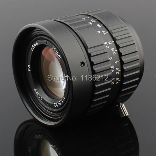 "HD 10 Megapixel Manual Iris 35mm,1"" F1.6 C Mount HD Lens ,lens for CCTV and Machine Vision Lens cameras"