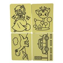 Распродажа,, 120 шт./партия-карточки для цветного песка art_15x21cm DIY, наклейка с песком, детская игрушка