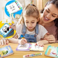 6pcs Magic Coloring Drawing Book set DIY Assembly Water Album Early Education Chinese English Baby Copying the Graffiti Painting
