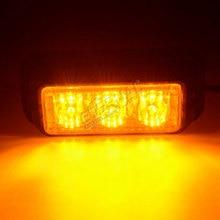 free shipping 2pcs LED warnin light strobe emergency safety light amber white for offroad ATV UTV motorcycle 4x4 equipment truck