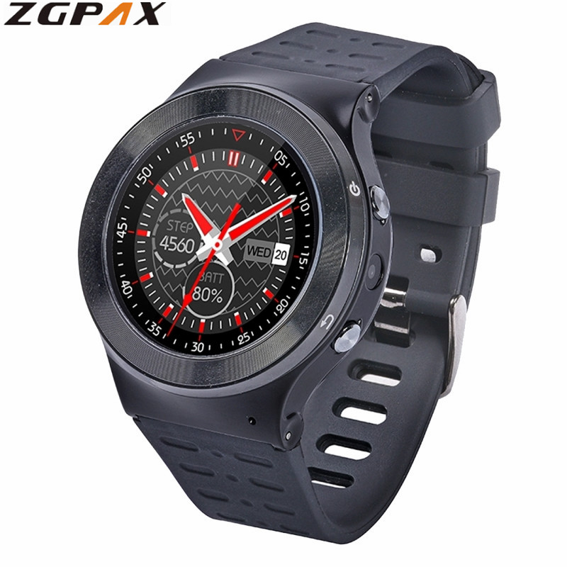 ZGPAX S99 MTK6580 Quad Core 3G Smart Watch Android 5.1 With 8GB ROM 5.0 MP Camera GPS WiFi Bluetooth Pedometer Heart Rate Watch original zgpax s99 gsm 3g quad core android 5 1 smart watch with 5 0 mp camera gps wifi bluetooth v4 0 pedometer heart rate new