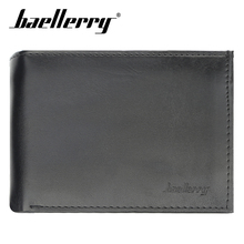 Baellerry Solid Black Coffee Men Short Wallet Zipper Coin Pocket Note Compartment Card Photo Holder Wallet PU Leather Hasp Men baellerry men solid black long wallet pu leather zipper n rope wallet coin pocket card holder photo holder business wallet men
