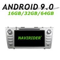 Navirider gps навигация для Toyota camry XV40 2006 2011 сенсорный экран DVD автомобиль android 9,0 64 Гб rom радио проигрыватель вluetooth стерео
