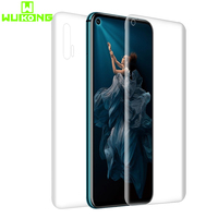 High Tech Transparant Back + Front Screen Protector Voor Huawei Honor 20 Volledige Cover TPU Zachte Hydrogel Film Voor Honor 20 Pro