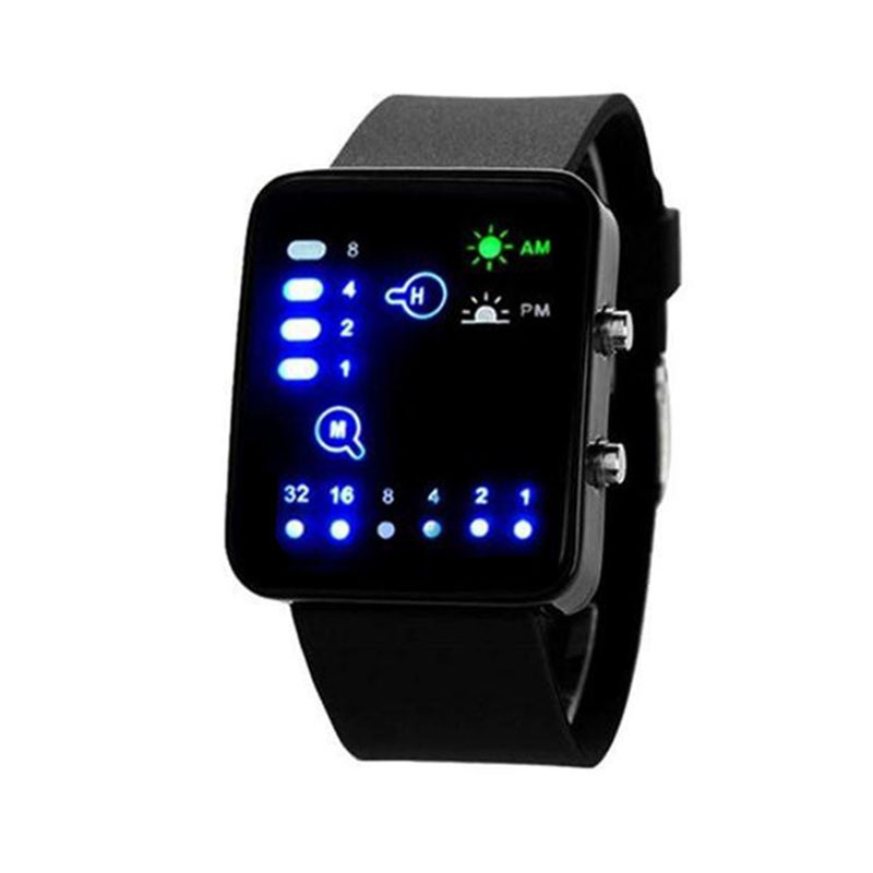 Sports LED Digital Watch Women Men Fashion Casual Electronic Watch Student Acrylic Band Military Watch Clock Reogio Feminino(China)