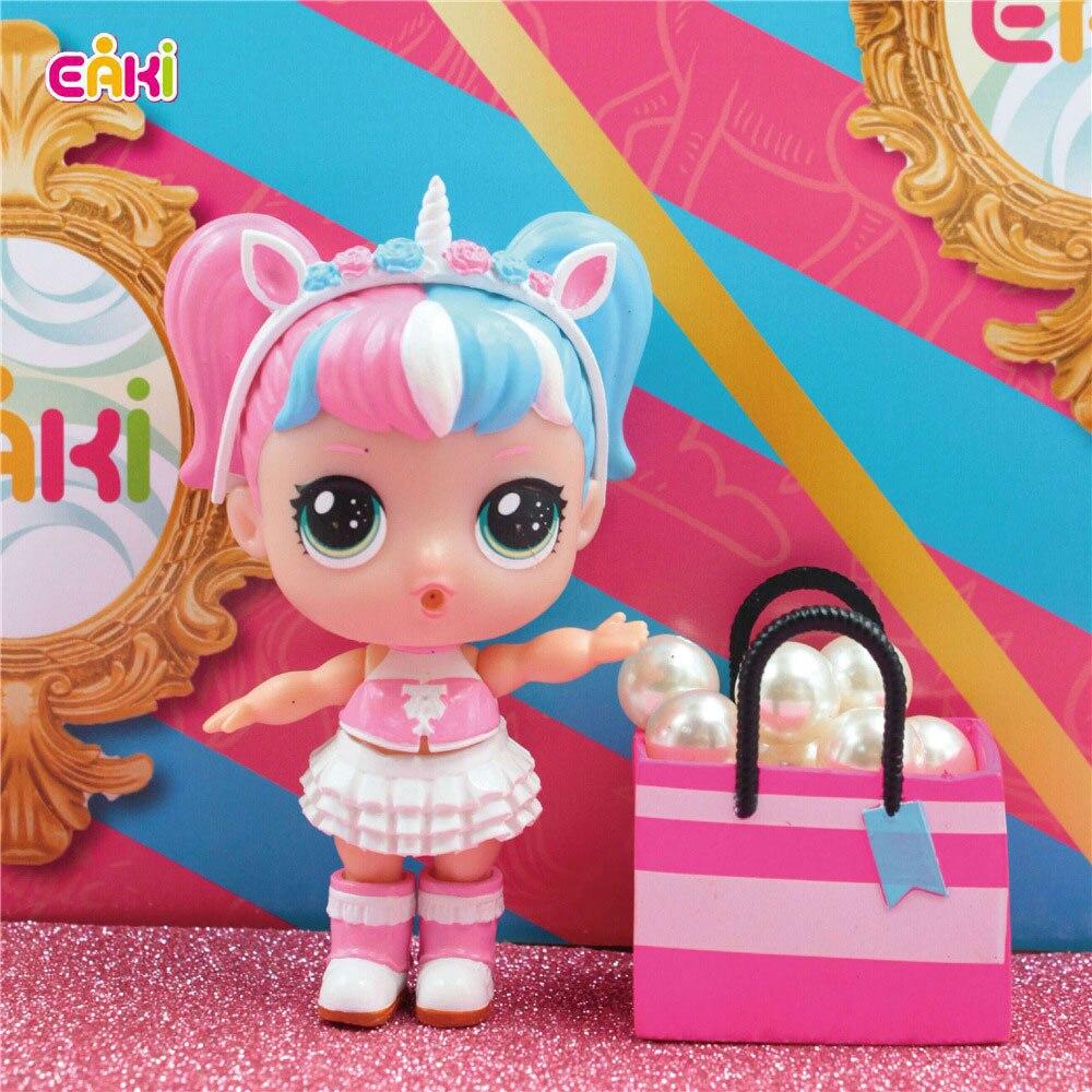 Moda Surpresa DIY Boneca Crianças brinquedos Puzzle penteado mudança cápsula espacial modelos lol bonecas BJD caixa original brinquedos para meninas