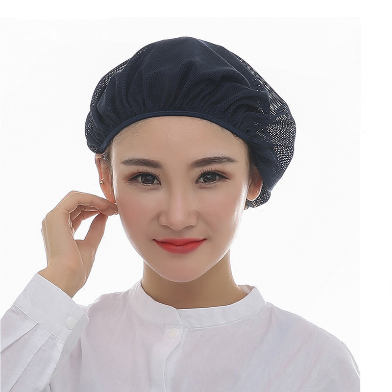 Chef Net Hat Cook Caps Kitchen Health Work Hats Canteen Restaurant Food Service Bakery Baking Female Breathable Cap