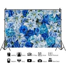 Laeacco Flowers Wall Wedding Bridal Child Newborn Photography Backgrounds Vinyl Custom Photographic Backdrops For Photo Studio