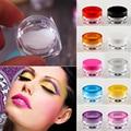 Recentes YCDC Necessário 50 Pcs 3g 10 Cores de Plástico caixa de Cosméticos Frasco Vazio Pot Eyeshadow Face Maquiagem Creme Labial Recipiente bálsamo
