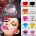 YCDC Más Nuevo Necesario 50 Unids 3g 10 Colores caja Plástica Cosmética Jar Empty Pot Eyeshadow Makeup Face Cream Lip Contenedor bálsamo