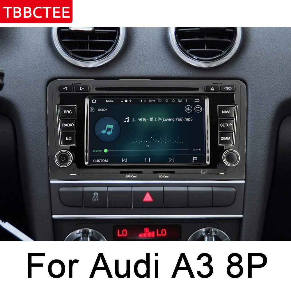 Para Audi A3 S3 RS3 8P 2003 ~ 2012 MMI Multimedia Player Do Carro Android Rádio Auto DVD GPS Do Bluetooth WIFI MAPA HD Unidade de Cabeça Tela ISP