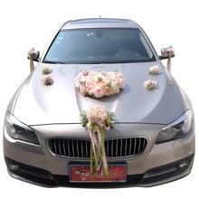 Wedding Car Artificial Flowers Rose Head Flower Home Decoration Supplies