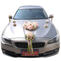 Wedding Car Artificial Flowers Rose Wedding Car Head Flower Wedding Home Decoration Supplies