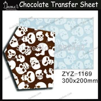 50pcs Halloween Skull Chocolate Transfer Sheet,DIY Chocolate Mold,Chocolate Printed Sheet,Chocolate Decoration,Cake Decoration фото