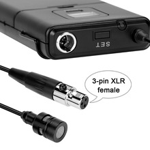 20-Channel UHF Wireless Mini Lapel Mic and Portable Receiver