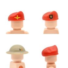 e73aece9e881a 10 pçs lote WW2 Capacetes Impresso MK2 Militar Do Exército Britânico Boina  Cap MOC Blocos