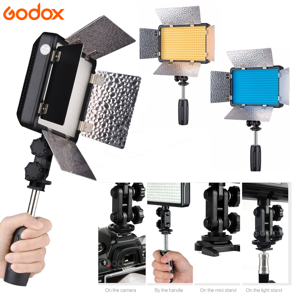 Image 4 - Godox LED 308W II 5600K White LED Remote Control Professional Video Studio Light + AC Adapter hot selling-in Photographic Lighting from Consumer Electronics