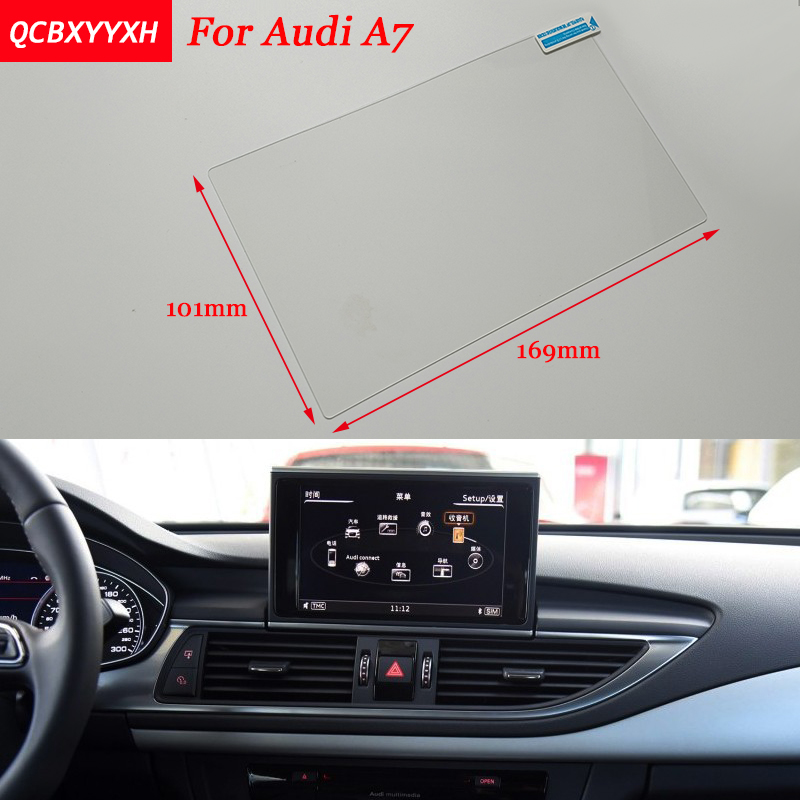 Car Sticker 8 Inch GPS Navigation Screen Steel Protective Film For Audi A7 Control of LCD Screen Car Styling мяч попрыгун larsen тигренок gsj 3 46см