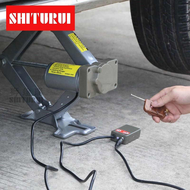 Vehicle Electric jack 12V Car sedan SUV hatchback car Wireless remote control jack for S ...