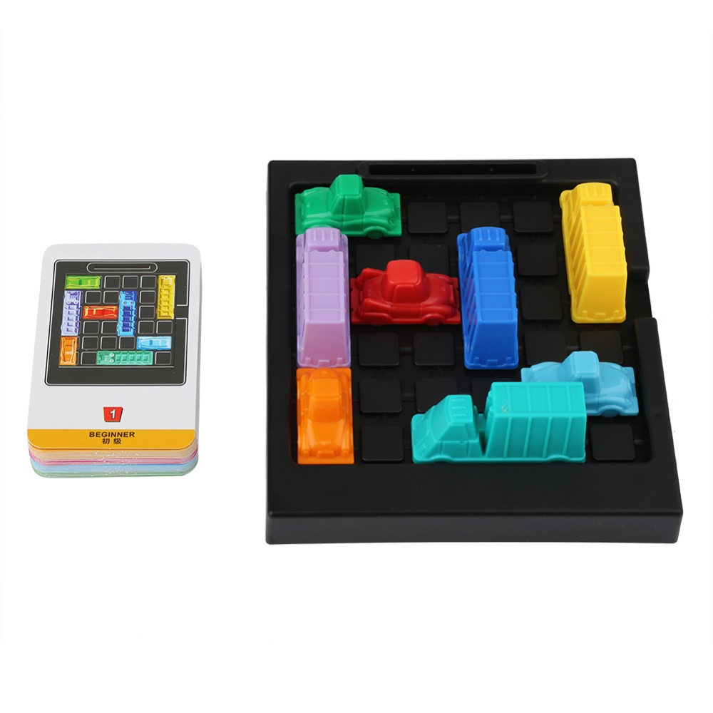 New Traffic Jam Puzzle Toys Children Logic Thinking Challenges Game Family Entertainment Board Game Toys For Children Hot Sale Numerous In Variety