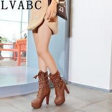76ebaef2534db LVABC talla 33-43 moda invierno zapatos mujeres botas de nieve de piel  cálida mujeres