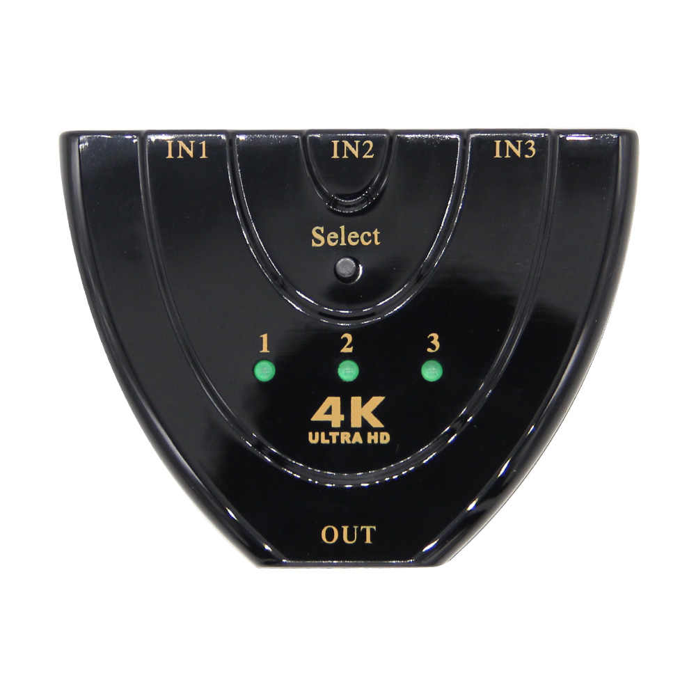 Mini 3 Cổng HDMI Chuyển Đổi 1.4b 4 k * 2 k 3D Switcher HDMI Splitter 3 trong 1 Ra Cổng hub đối với DVD HDTV Xbox PS3 PS4 1080 P