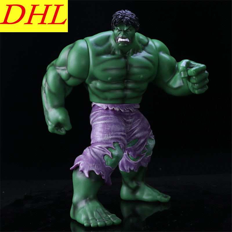 35CM Avengers 3 Incredible Hulk Robert Bruce Banner Justice League PVC Action Figure DC Comics Collectible Model Toy L2016 statue avengers superhero hulk 1 4 bust robert bruce banner head portrait resin action figure collectible model toy w75