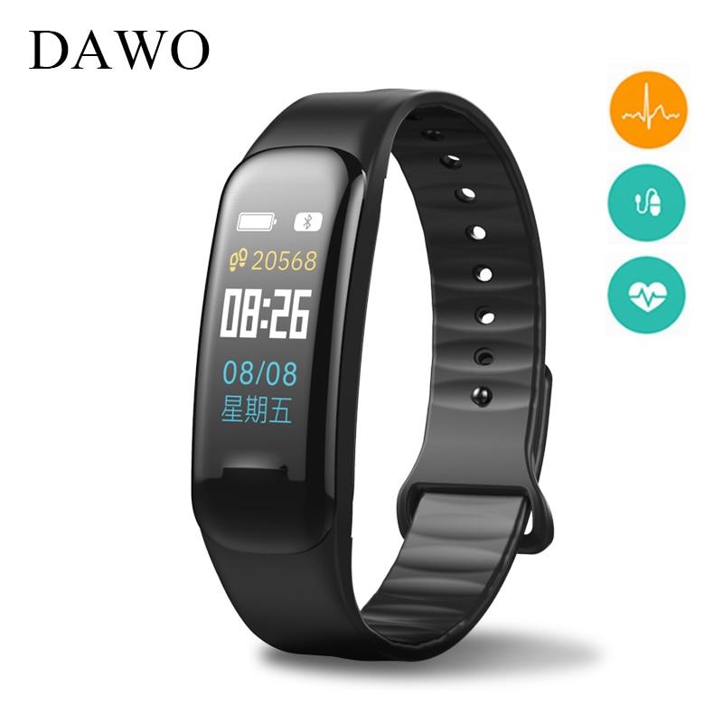 DAWO Color Screen Fitness Bracelet Blood Pressure Heart Rate Monitor Activity Tracker Blood Oxygen IP67 Waterproof PK mi band