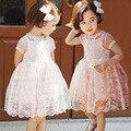 Девушки Летом стиль дети Кружева платье высокого качества День Рождения платья Детская Одежда Платье Принцессы 2-7 лет малыша девушки одеваются